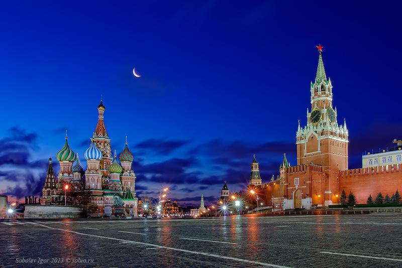 moskva krasnaia plosadi noci